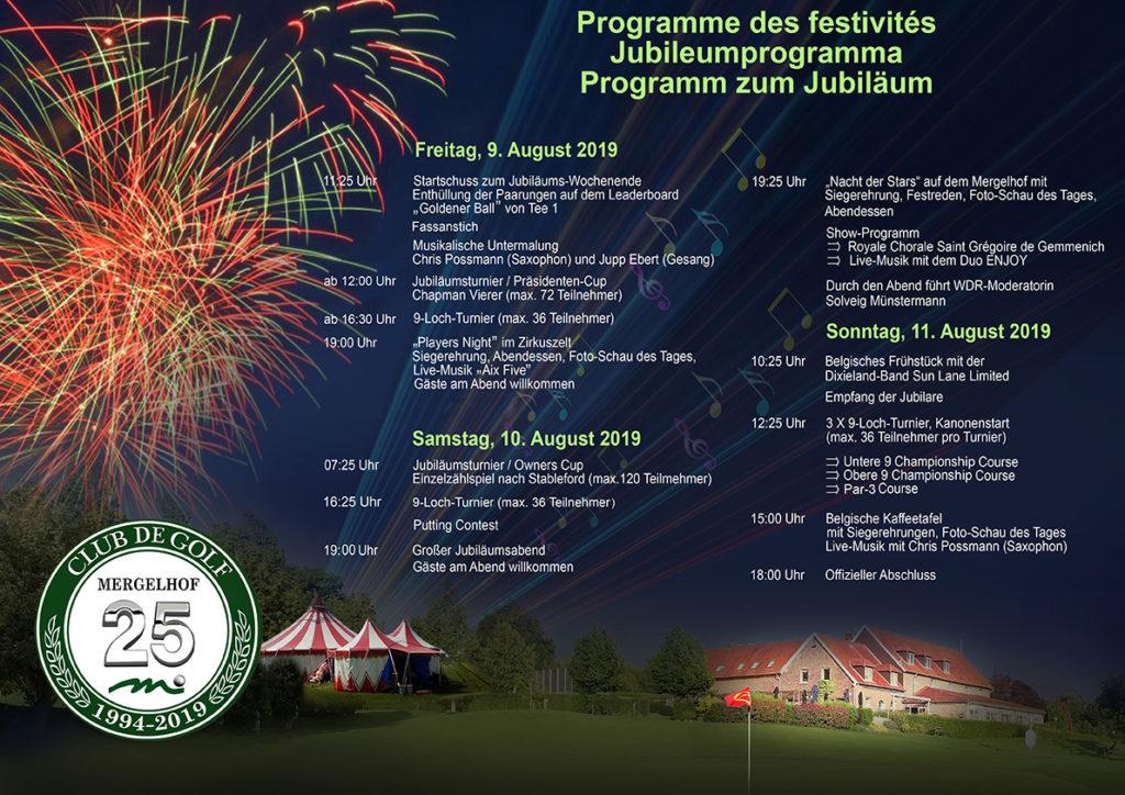 Jubiläum Programm